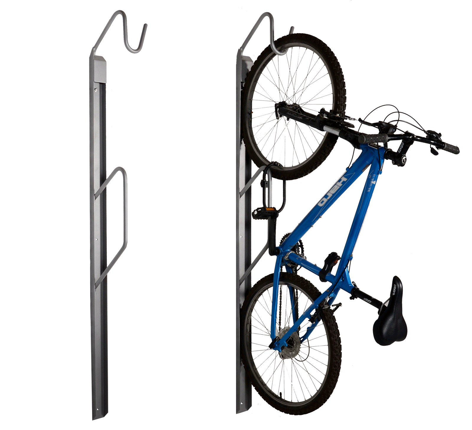 urban space wall mount bike rack wishbone site furnishings. Black Bedroom Furniture Sets. Home Design Ideas
