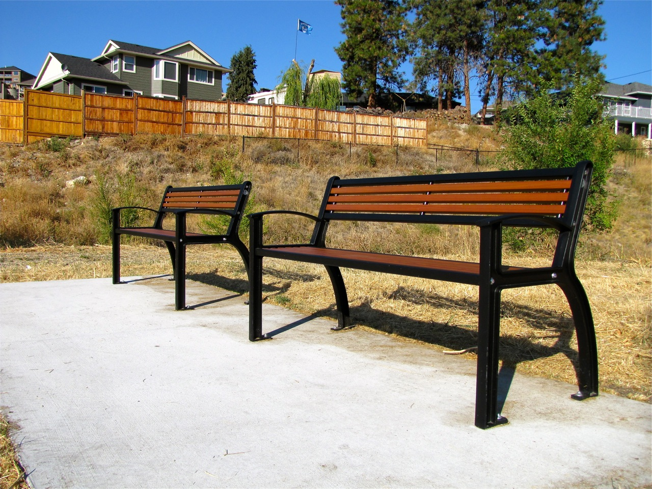 Beselt Park Bench All Metal Wishbone Site Furnishings