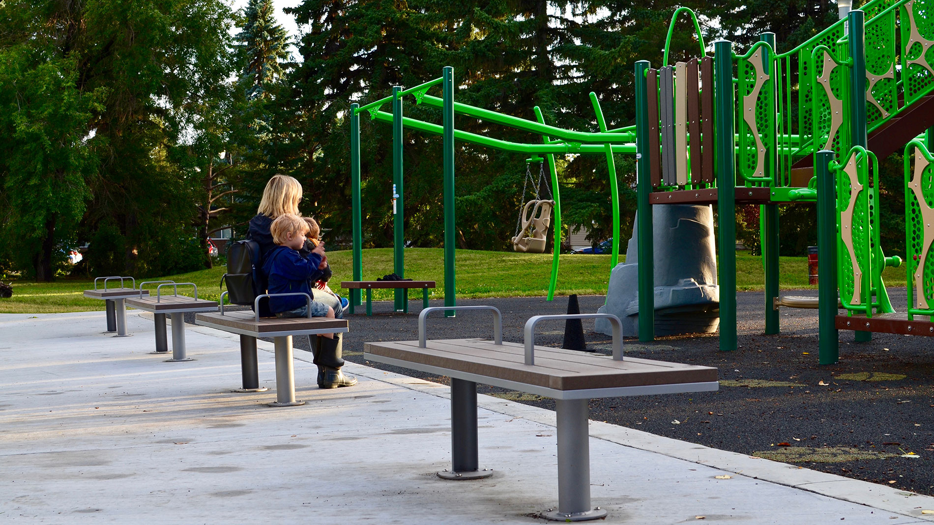 Surre Straight Park Bench Wishbone Site Furnishings
