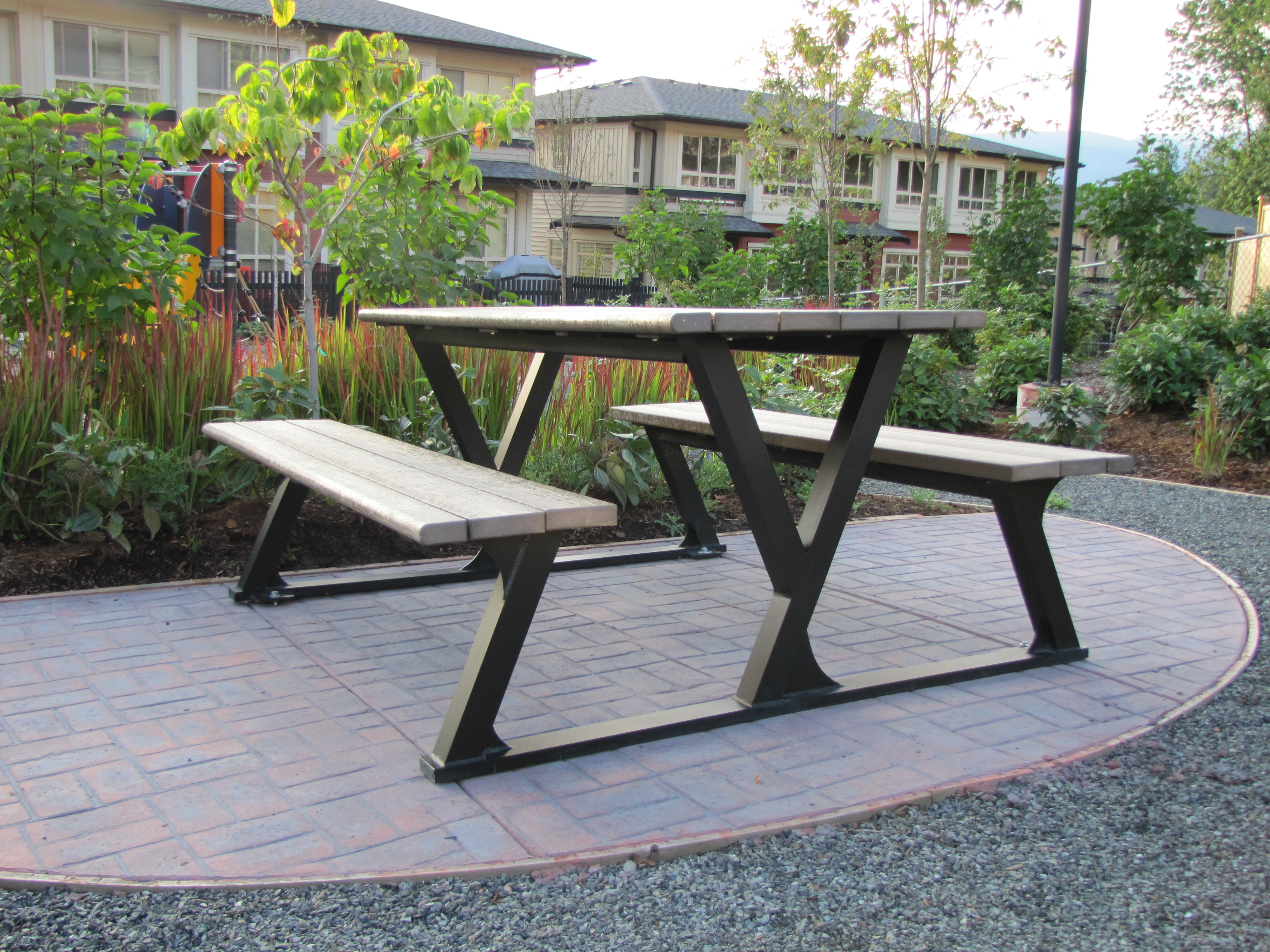 bench plastic for most reclaimed ireland benches furniture outdoor tremendous recycled decor wooden home gallery wood of garden within schools
