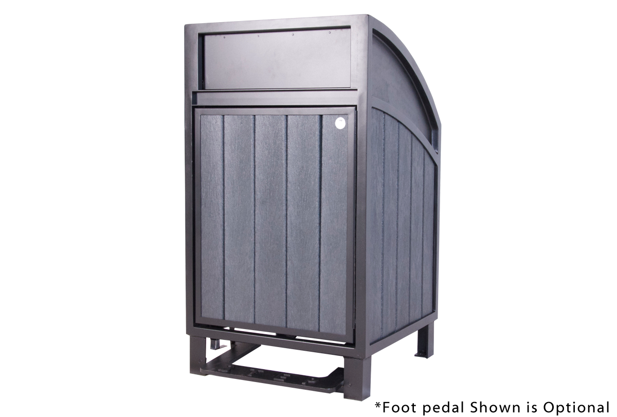 Modena Large Capacity Curved Top Waste Receptacle