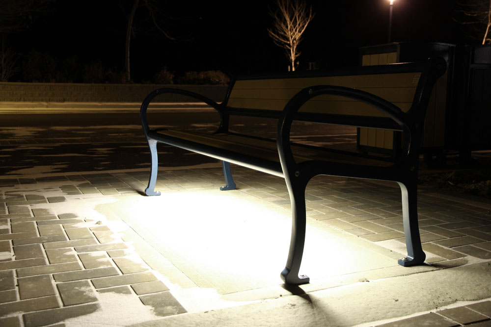 bench lighting. Mountain-Classic-Bench-with-LED-lighting-in-Peachland- Bench Lighting R