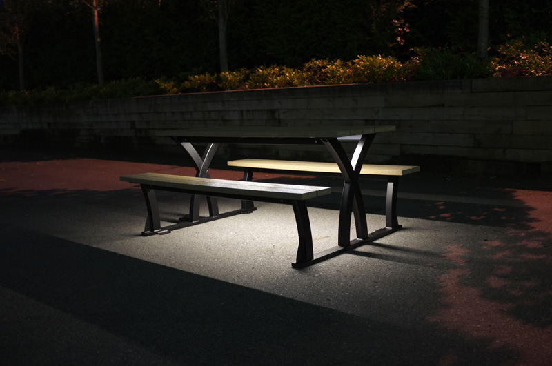 Gentil Wisbone LED Parker Picnic Table. Wishbone ...