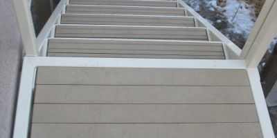 x 4 Sand Color Re-plast Lumber for Consumer Stairs and Landing
