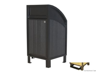 Modena Curved Top Waste Receptacle