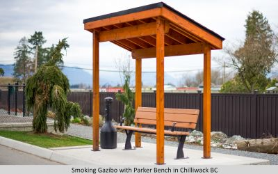 Smoking Gazibo with Parker Bench  in Chilliwack BC