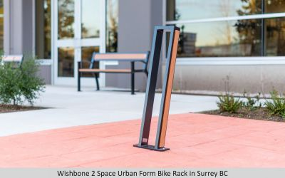 Wishbone 2 Space Urban Form Bike Rack in Surrey BC