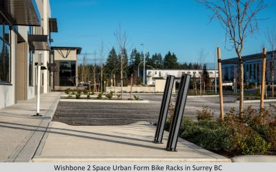 Wishbone 2 Space Urban Form Bike Racks in Surrey BC