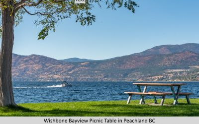 Wishbone BayView Bench on Beach Ave Peachland BC