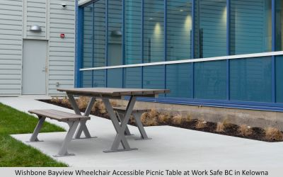 Wishbone Bayview Wheelchair Accessible Picnic Table at Work Safe BC Kelowna BC