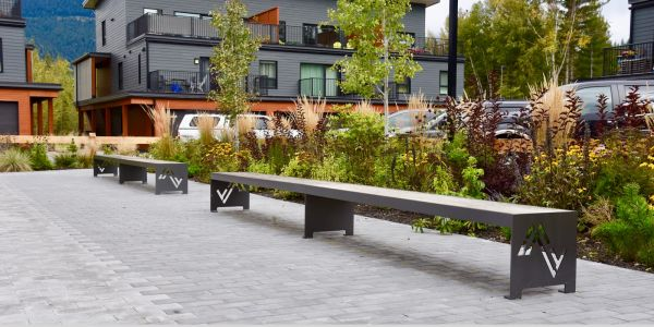 Wishbone Custom IPE Mackenzie Straight Benches in Revelstoke BC (1)