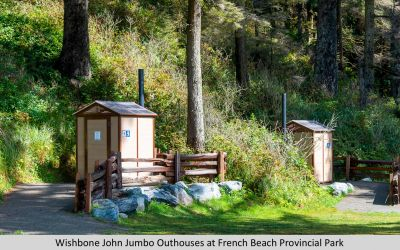 Wishbone John Jumbo Outhouses at French Beach Provincial Park