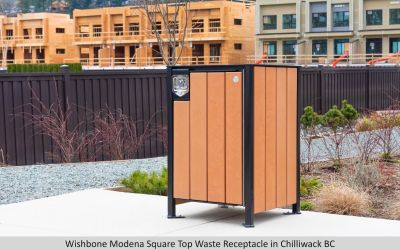 Wishbone Modena Square Top Waste Receptacle in Chilliwack BC