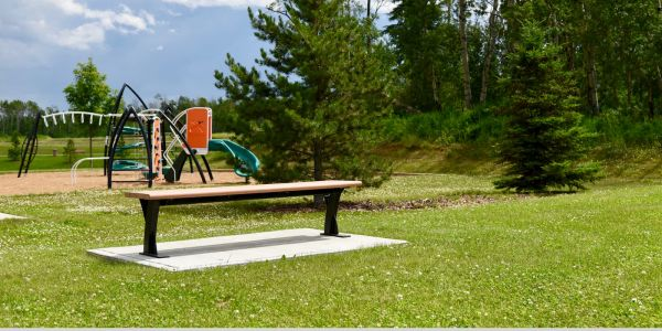 Wishbone Parker Straight Bench in Grande Prairie Alberta (1)