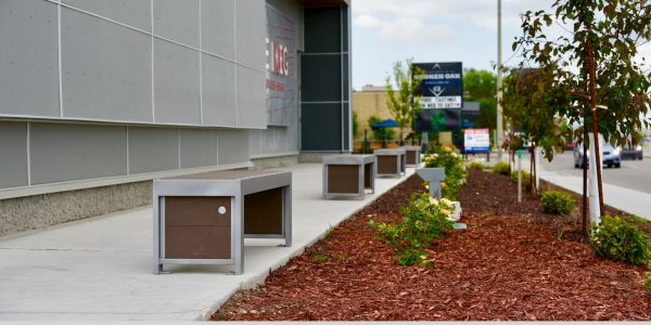 Wishbone Urban Form Straight Benches in Grande Prairie Alberta (1)