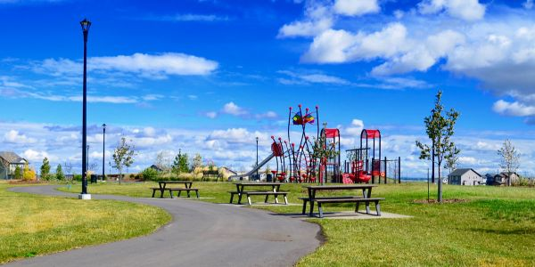 Wishbone-BayView-Picnic-Tables-at-CYBecker-Subdivision-in-Edmonton-Alberta