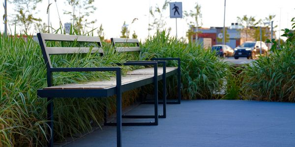 Wishbone-Custom-Skyline-Bench-at-Tswwassen-Commons-Mall