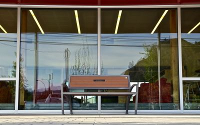 Wishbone-Modena-Wide-Body-Bench-At-The-Okanagan-Regional-Library-in-Summerland-BC