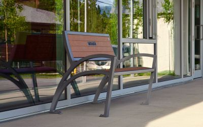 Wishbone-Modena-Wide-Body-Bench-At-The-Okanagan-Regional-Library-in-Summerland-BC-Side-View