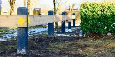 Wishbone-Perm-Post-100-Recycled-Plastic-6x6-Pyramid-Bollards-in-Port-Coquitlam-BC