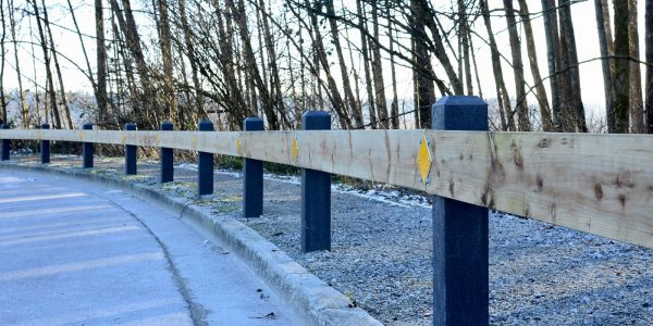 Wishbone-Perma-Post-100-Recycled-Plastic-6x6-Pyramid-Bollards-in-Port-Coquitlam-BC