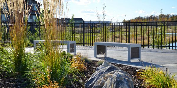 Wishbone-Urban-Form-Straight-Benches-at-Desrochers-Subdivision-in-Edmonton-Alberta