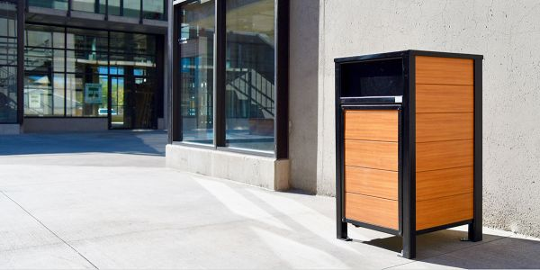 Wishbone-Urban-Form-Waste-Receptacle-using-Longboard-at-Sopa-Square-in-Kelowna-BC