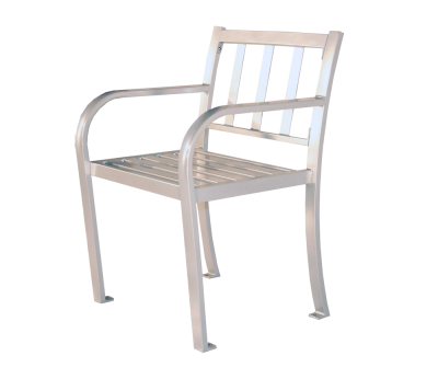 Bateman Single Seat Park Bench - ALL METAL