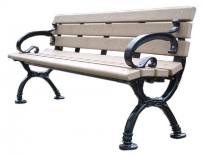 Classic Park Bench with Arms