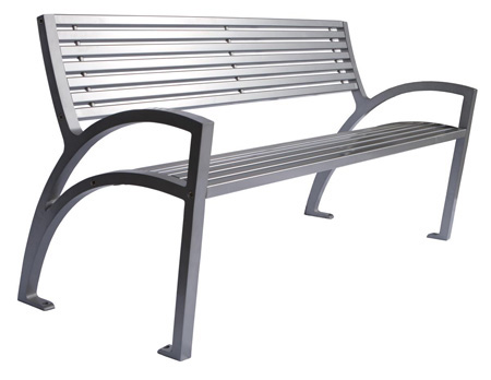 Modena Park Bench All Metal Wishbone Site Furnishings