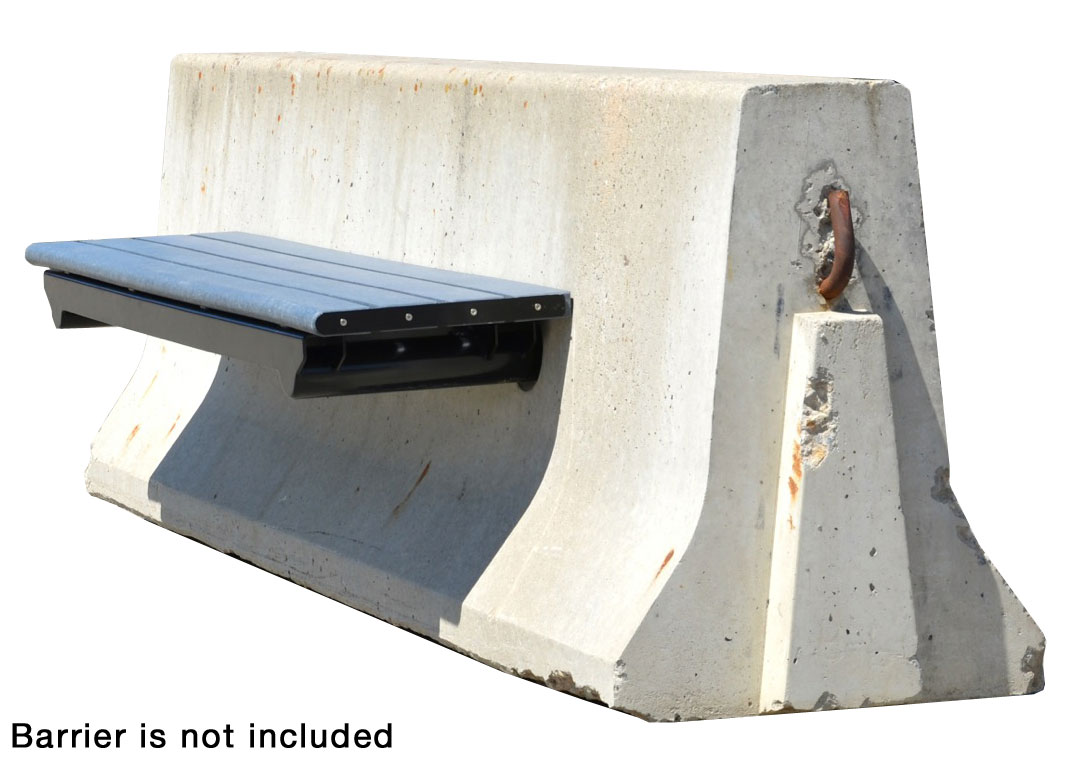 No Post/Jersey Concrete Barrier Bench