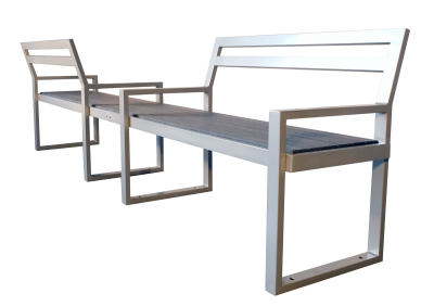 Skyline Double Seat Park Bench