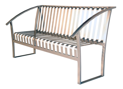 Turisno Park Bench - ALL METAL